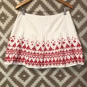 Vineyard Vines Red White Embroidered Skirt